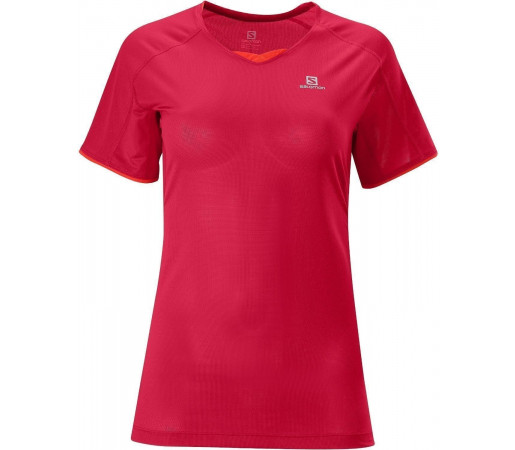 Tricou Salomon Trail Runner Tee W Red 2013