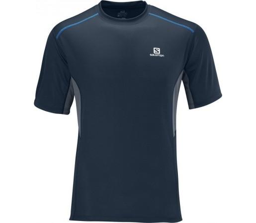 Tricou Salomon Trail Tee M Blue- Grey