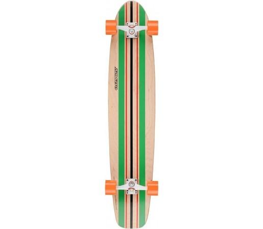 Longboard OSPREY 44''x 9'' Stripe Negru/ Verde/ Bej