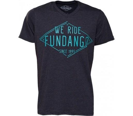 Tricou Fundango V-Neck T Logo 4 Bleumarin