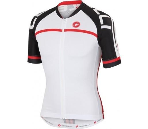 Tricou ciclism Castelli Volo Alb/ Negru/ Rosu