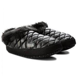 Papuci Femei The North Face Thermobaal Tent Mule Faux Fur IV Negru