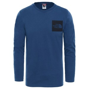 Bluza Barbati The North Face M Long Sleeve Fine Tee-EU Blue Wing Teal (Bleumarin)