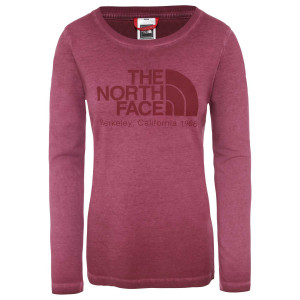 Bluza Femei The North Face L/S Washed Berkeley-Eu Sequoia Red (Grena)