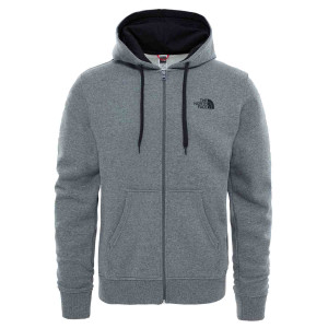Hanorac Barbati The North Face Open Gate Full Zip Hoodie Tnf Medium Grey Heather/Tnf Black (Antracit)