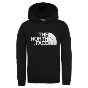 Hanorac Copii The North Face Youth Drew Peak Pullover Hoodie Black/Black (Negru)