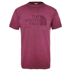 Tricou Barbati The North Face S/S Washed Berkeley-Eu Deep Garnet Red (Rosu)