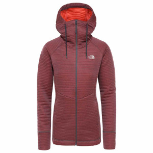Hanorac Femei The North Face Hikesteller Midlayer Vanadis Grey/Radiant Orange (Gri)