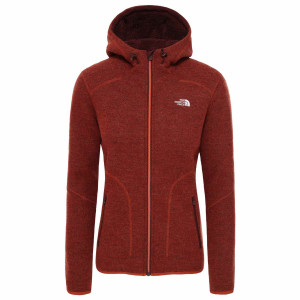 Hanorac Femei The North Face Zermatt Full Zip Hoodie Picante Red Dark Heather (Caramiziu)