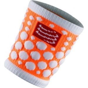 Mansete Compressport SweatBand Dots Fluo Orange