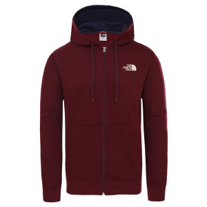 Hanorac Barbati The North Face Open Gate Full Zip Hoodie Deep Garnet Red (Rosu)