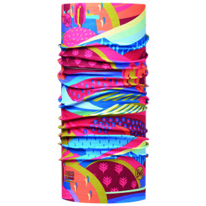 Neck Tube Buff Colourful Mountains High UV Junior Multicolor