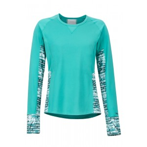 Bluza First Layer Femei Marmot Lightweight Lana LS Turcoaz