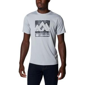 Tricou Drumetie Barbati Columbia Zero Rules Short Sleeve Graphic Shirt Gri