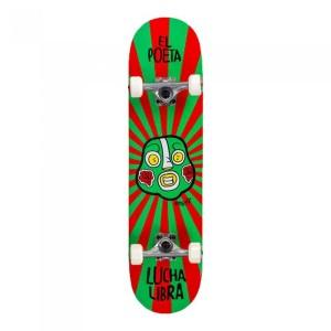 Skateboard Copii Enuff Lucha Libre Mini Red/Green 29.5x7.25 inch Multicolor