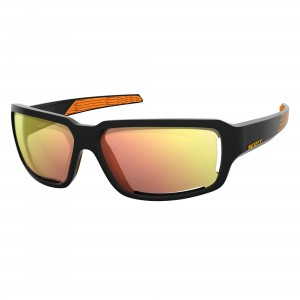 Ochelari de soare Ciclism Scott Obsess ACS Black / Orange / Red Chrome Enhancer