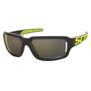 Ochelari de soare Ciclism Scott Obsess ACS Black / Neon Yellow / Gold Chrome