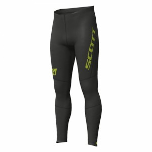 Pantaloni Alergare Scott RC RUN Full Tight M Negru / Galben