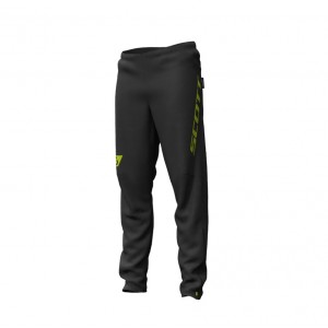 Pantaloni Alergare Scott RC RUN Waterproof M Negru / Galben