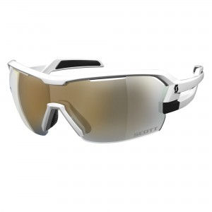 Ochelari de soare Ciclism Scott Spur M White Matt / Gold Chrome + Clear