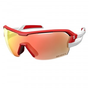 Ochelari de soare Ciclism Scott Spur M Red / White / Red Chrome Enhancer + Clear