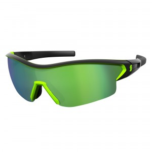 Ochelari de soare Ciclism Scott Leap Black Matt / Neon Green / Green Chrome + Clear