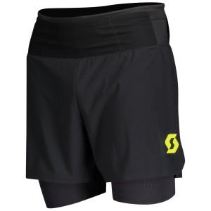 Pantaloni Scurti Alergare Barbati Scott RC Run Negru