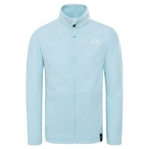 Polar Drumetie Copii The North Face Youth Snowquest Full Zip Recycled Starlight Blue (Bleu)