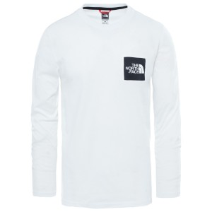 Bluza Barbati The North Face M Long Sleeve Fine Tee-EU Tnf White (Alb)