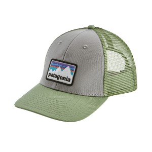 Sapca Patagonia Shop Sticker Patch LoPro Trucker Gri / Verde