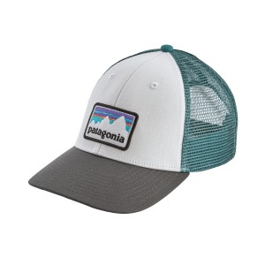 Sapca Patagonia Shop Sticker Patch LoPro Trucker Alb / Gri