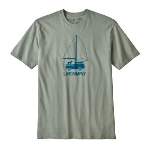 Tricou Barbati Patagonia Live Simply Wind Powered Responsibili-Tee Verde