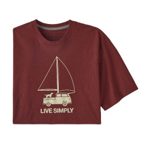 Tricou Barbati Patagonia Live Simply Wind Powered Responsibili-Tee Oxide Red  (Rosu)