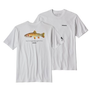 Tricou Barbati Patagonia Greenback Cutthroat World Trout Responsibili-Tee Alb