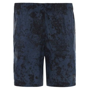 Pantaloni Scurti Barbati The North Face M 24/7 Short Blue Wing Teal Grunge Print (Bleumarin)