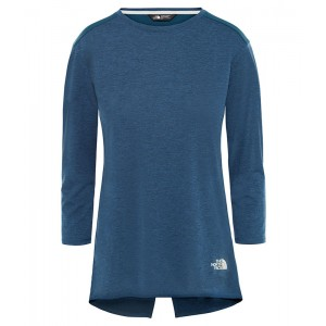 Bluza Femei Hiking The North Face Inlux 3/4 Sleeve Bleumarin