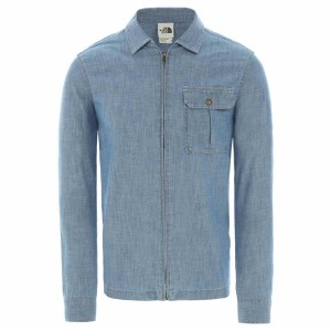 Camasa Barbati The North Face M Long Sleeve Berkeley Chambray Shirt Medium Indigo Chambray (Albastru)