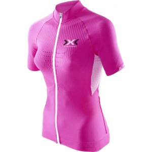 Tricou X-Bionic Biking Lady THE TRICK OW SH-SL Full Zip Pink