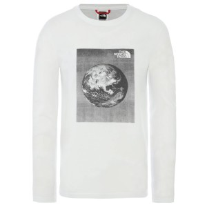 Bluza Barbati The North Face M Long Sleeve Graphic Tee-EU Tnf White/Tnf White (Alb)