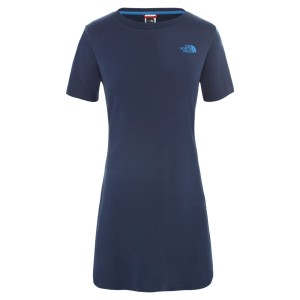 Rochie Femei The North Face W Simple Dome Tee Dress-EU Blue Wing Teal (Bleumarin)