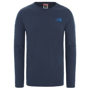 Bluza Barbati The North Face M Long Sleeve North Faces Tee-EU Blue Wing Teal (Bleumarin)