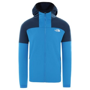 Hanorac Drumetie Barbati The North Face M Impendor Full Zip Mid Layer Hoodie Clear Lake Blue/Blue Wing Teal (Albastru)
