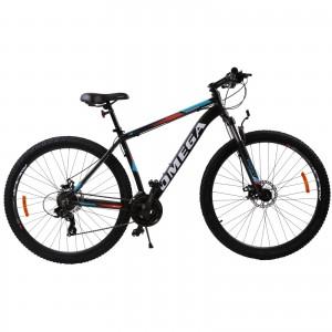 "Bicicleta Mountain Bike Omega Thomas 29"" Negru / Portocaliu / Alb"