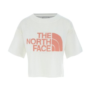 Tricou Femei The North Face W Short Sleeve Half Dome Cropped Tee Tnf White (Alb)