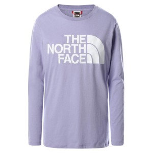 Bluza Casual Femei The North Face Standard Ls Tee Mov
