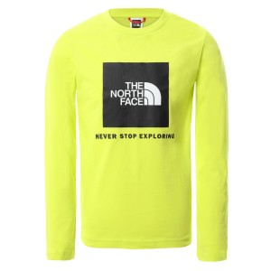 Bluza Casual Copii The North Face Youth L/S Box Logo Tee Lime