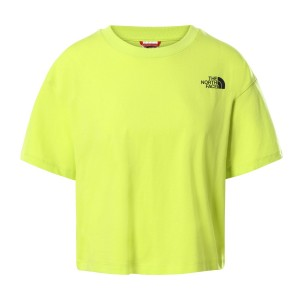 Tricou Casual Femei The North Face Cropped Simple Dome Tee Lime