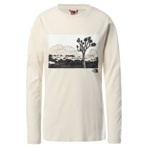Bluza Casual Femei The North Face Graphic L/S Tee Alb