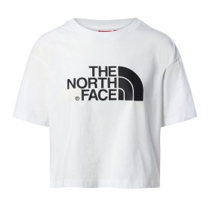 Tricou Casual Femei The North Face Cropped Easy Tee Alb