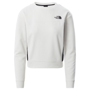 Bluza Alergare Femei The North Face Mountain Athletics Pullover Alb